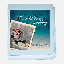 H&V Wedding baby blanket