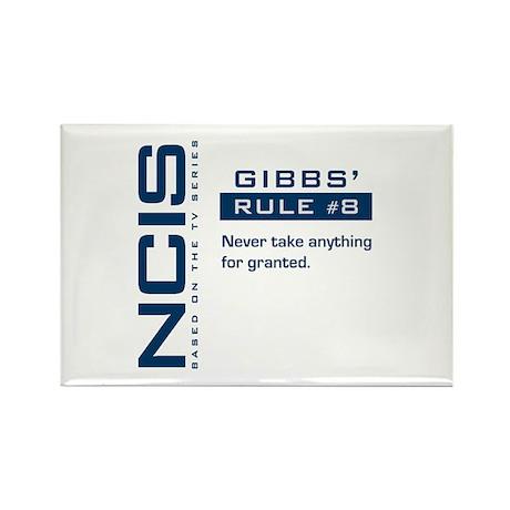 NCIS Gibbs' Rule #8 Rectangle Magnet (100 pack)