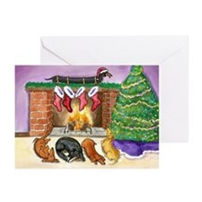 Dachshund Stockings Christmas Cards (10)