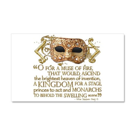 Henry V Quote Car Magnet 20 x 12