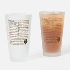 Shakespeare Insults Drinking Glass