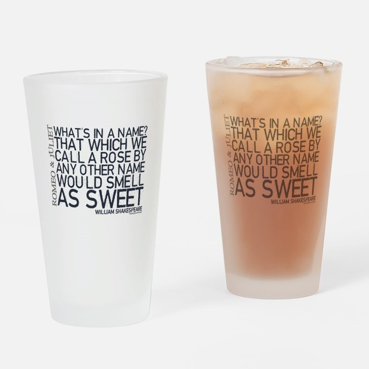 Romeo & Juliet Quote Drinking Glass