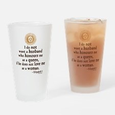 Elizabeth Marriage Quote Drinking Glass