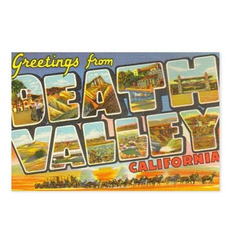 Death Valley CA Postcards (Package of 8)