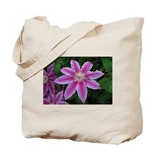 Clematis 'Nelly Moser' Tote Bag