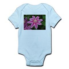 Clematis 'Nelly Moser' Infant Bodysuit