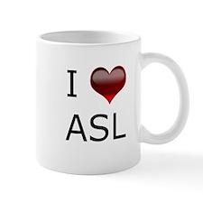 I <3 ASL Mug