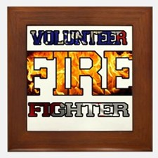 Volunteer Firefighter Framed Tile