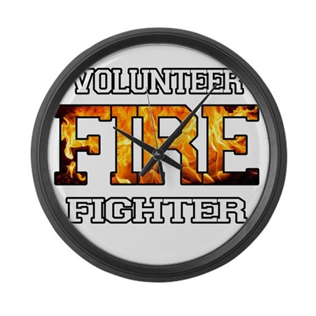 Volunteer Firefighter Large Wall Clock
