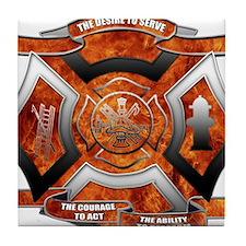 Firefighter Tile Coaster