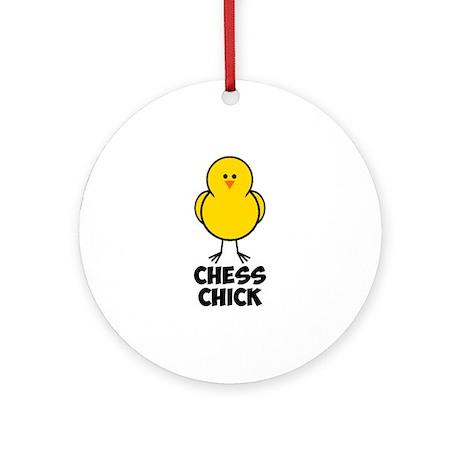 Chess Chick Ornament (Round)