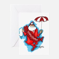 Unique New orleans christmas Greeting Cards (Pk of 10)