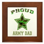 Proud Army Dad: Framed Tile