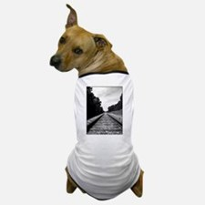 .railroad tracks. b&w Dog T-Shirt