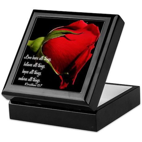 1 Corinthians 13/ Rose Keepsake Box