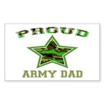 Proud Army Dad: Rectangle Sticker