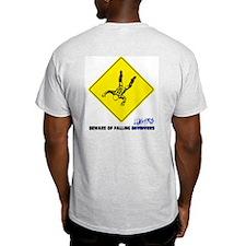 Beware of falling lunatics... Ash Grey T-Shirt