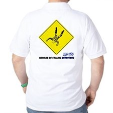 Beware of falling lunatics... T-Shirt