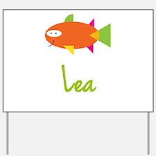 Lea is a Big Fish Yard Sign
