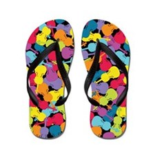 Colorful Violas - Flip Flops