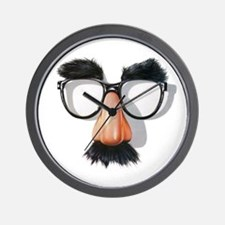 Wall Clock w/ Groucho Glasses