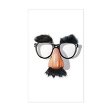 Rectangle Sticker w/ Groucho Glasses