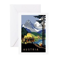 Austria Band Travel Greeting Card