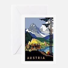 Austria Band Travel Greeting Card