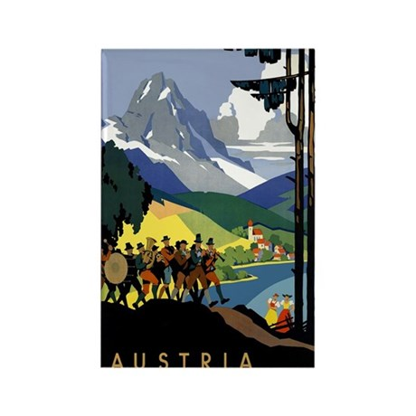 Austria Band Travel Rectangle Magnet (10 pack)