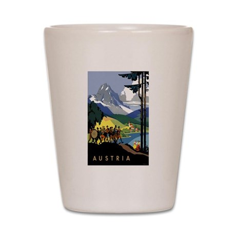 Austria Band Travel Shot Glass