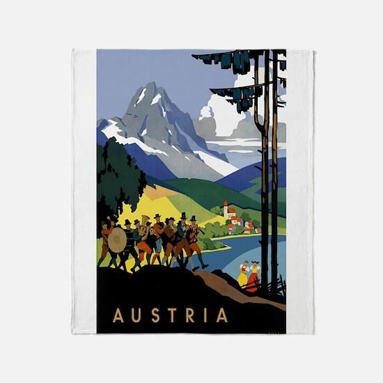 Austria Band Travel Throw Blanket