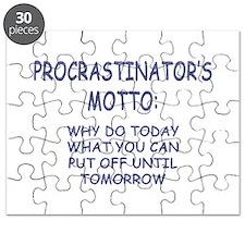 Procrastinator's Motto Puzzle
