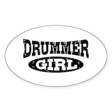 Drummer Girl Stickers
