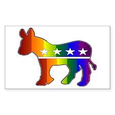 Rainbow Donkey Rectangle Decal