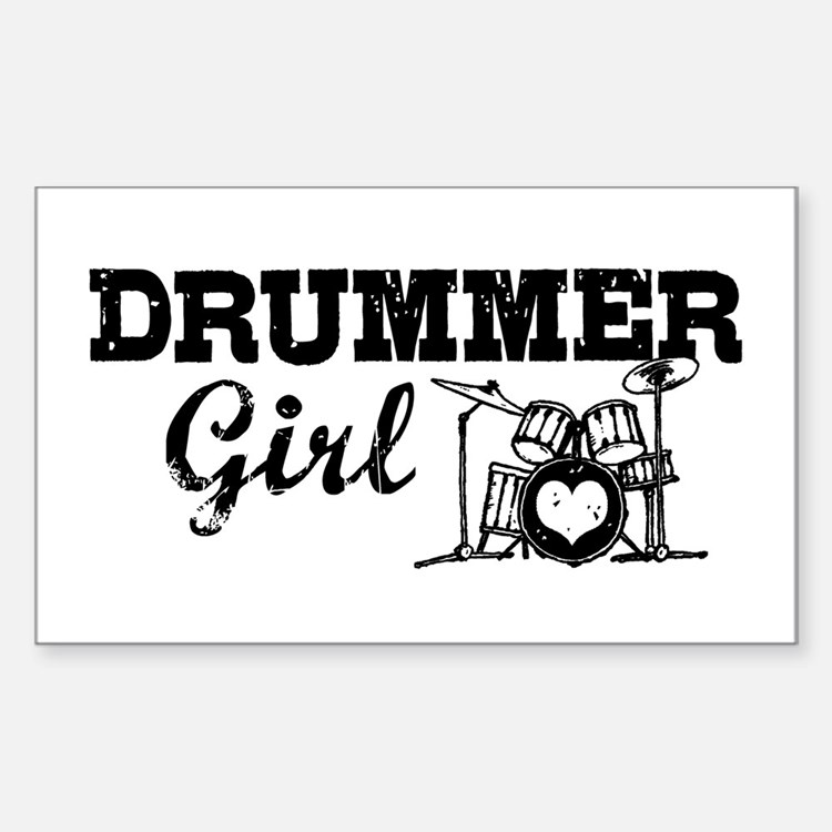 Drummer Girl Decal