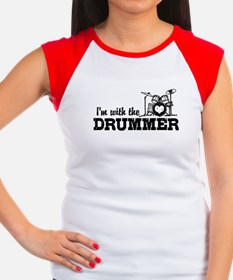 I'm With The Drummer Women's Cap Sleeve T-Shirt