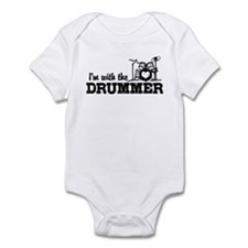 I'm With The Drummer Infant Bodysuit