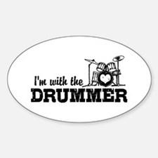 I'm With The Drummer Decal