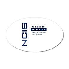 NCIS Gibbs' Rule #1 20x12 Oval Wall Decal