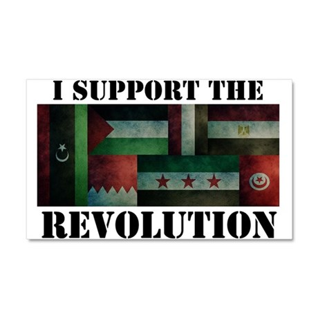 I Support the Arab Revolution Car Magnet 20 x 12