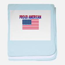 Proud American baby blanket