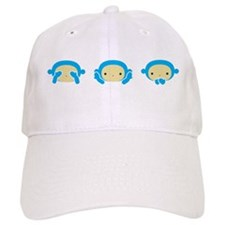 3 Wise Monkeys Baseball Cap