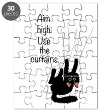 Aim High. Use the Curtains. Puzzle