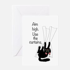 Aim High. Use the Curtains. Greeting Card
