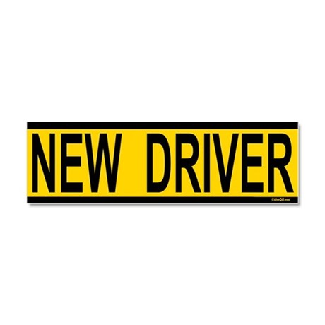 New Driver Car Magnet 10 x 3