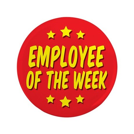 """Employee of the Week 3.5"""" Button (10 pack)"""