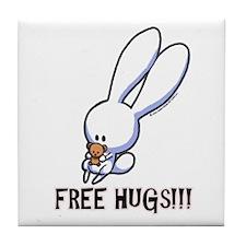 Free Hugs Plume Tile Coaster