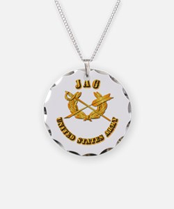 Army - JAG Necklace Circle Charm