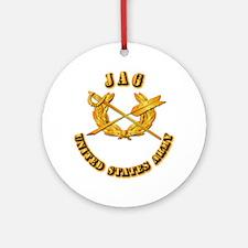 Army - JAG Ornament (Round)