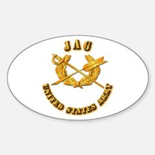 Army - JAG Sticker (Oval)